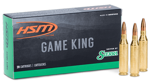HSM Game King Ammunition 358 Norma Magnum 225GR Sierra GameKing Spitzer Boat Tail Per 20