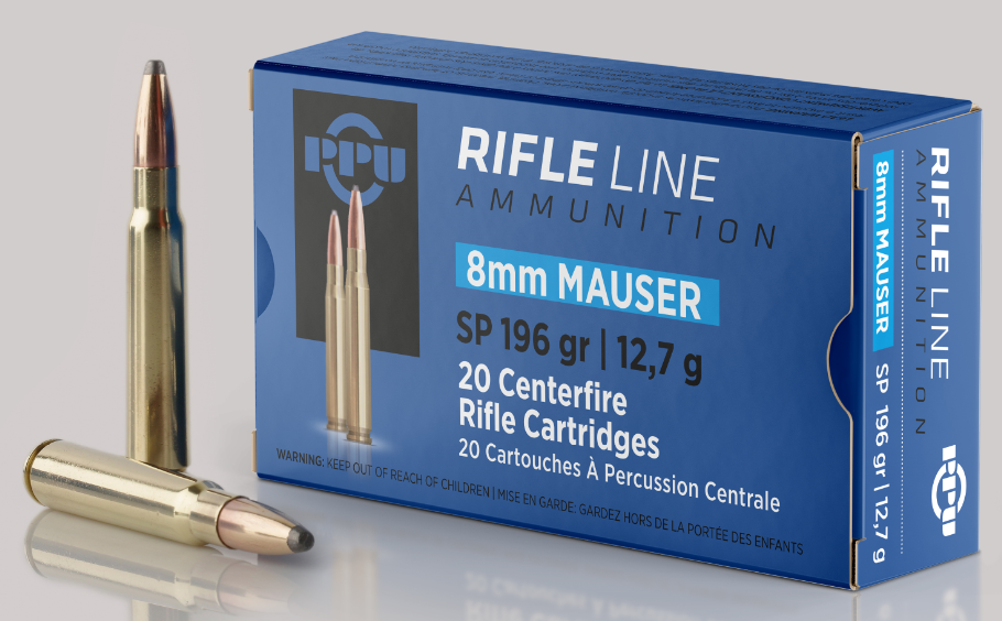 PPU Metric Ammunition 8x57mm JS Mauser (8mm Mauser) 196GR Soft Point Per 20