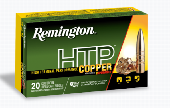 Remington HTP Copper Ammunition 308 Winchester 168GR Barnes TSX Hollow Point Boat Tail Per 20