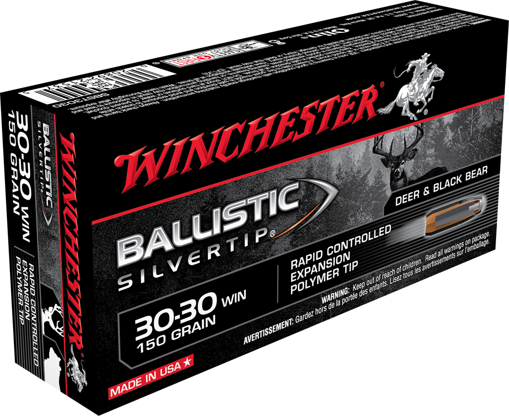 Winchester Ballistic Silvertip Ammunition 30-30 Winchester 150GR Rapid Controlled Expansion Polymer Tip Per 20