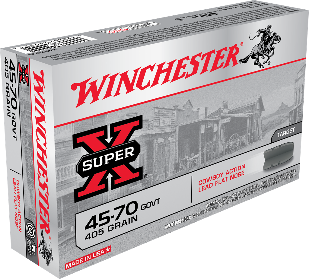 Winchester Super-X Ammunition 45-70 Government 405GR Lead Flat Nose Per 20