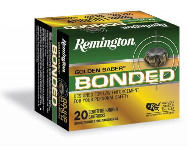 Remington Golden Saber Bonded Ammunition 40 S&W 180GR Bonded Brass Jacket Hollow Point Per 20