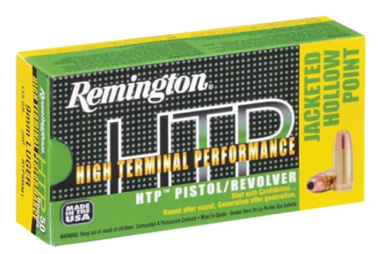 Remington HTP Ammunition 9mm Luger +P 115GR Jacketed Hollow Point Per 20