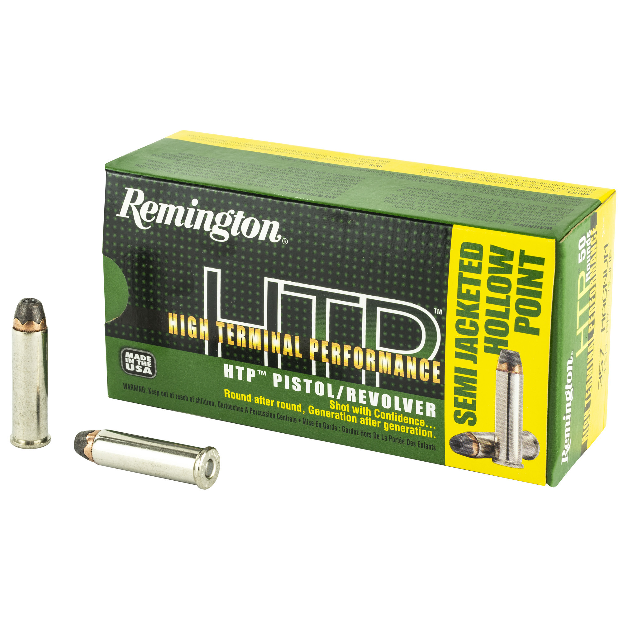 Remington HTP Ammunition 357 Magnum 110GR Semi-Jacketed Hollow Point Per 20