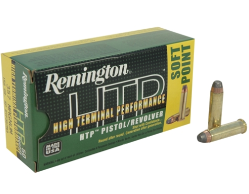 Remington HTP Ammunition 357 Magnum 158GR Soft Point Per 20