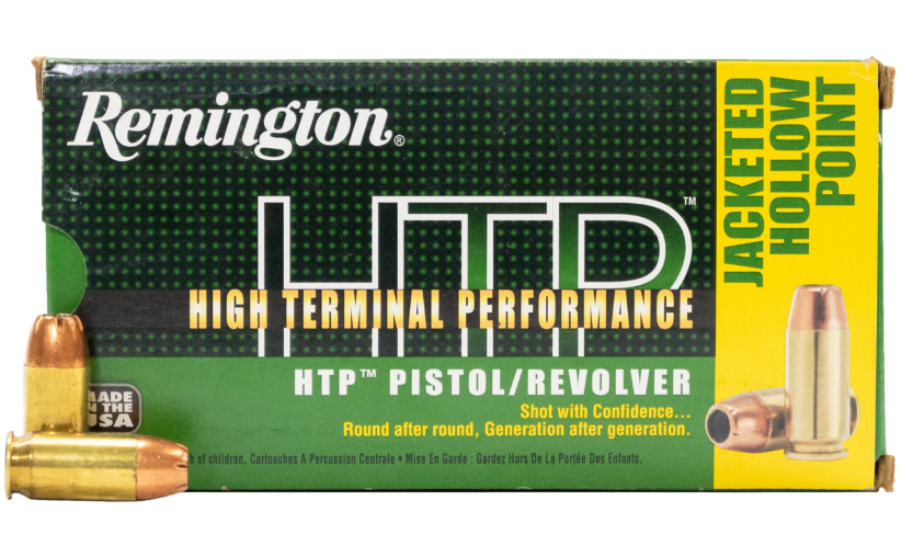 Remington HTP Ammunition 45 Auto (ACP) 230GR Jacketed Hollow Point Per 20