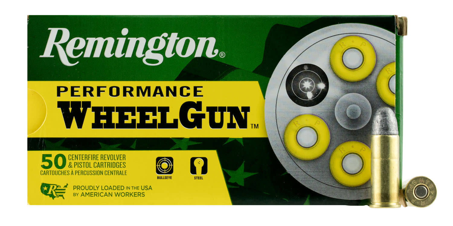 Remington Performance WheelGun Ammunition 44 Special 246GR Lead Round Nose Per 50