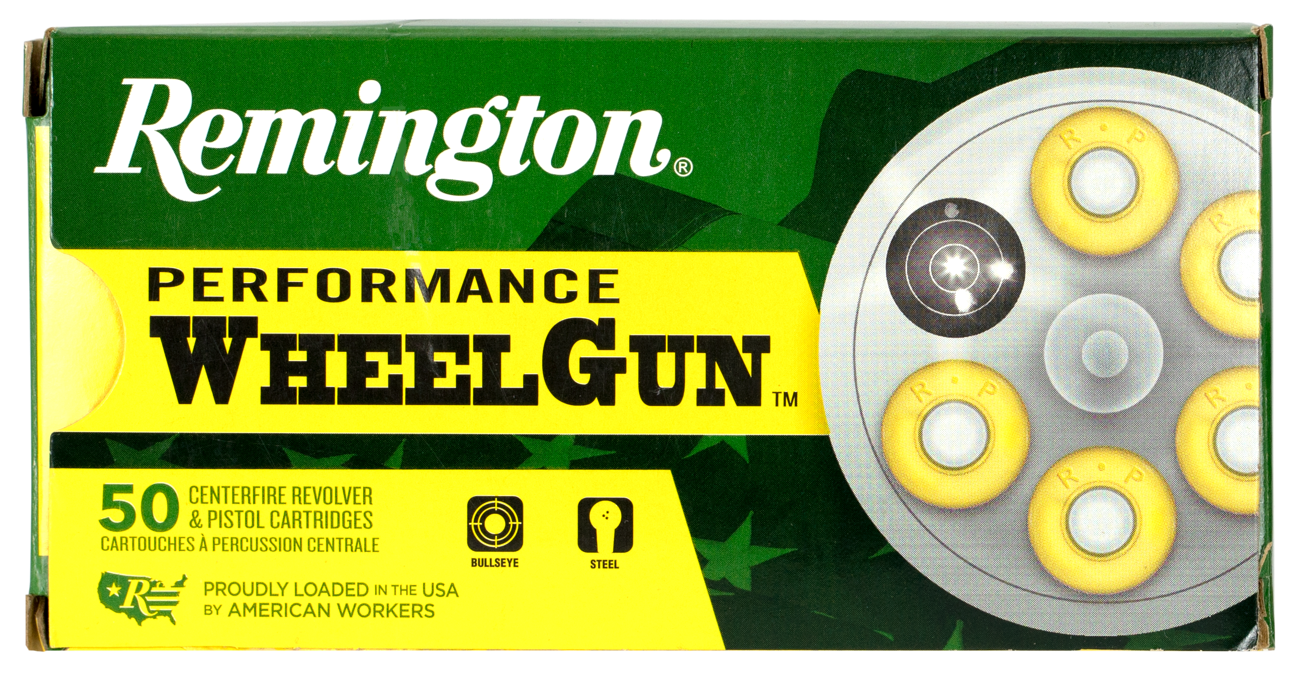 Remington Performance WheelGun Ammunition 38 Special 148GR Targetmaster Lead WC Match Per 50