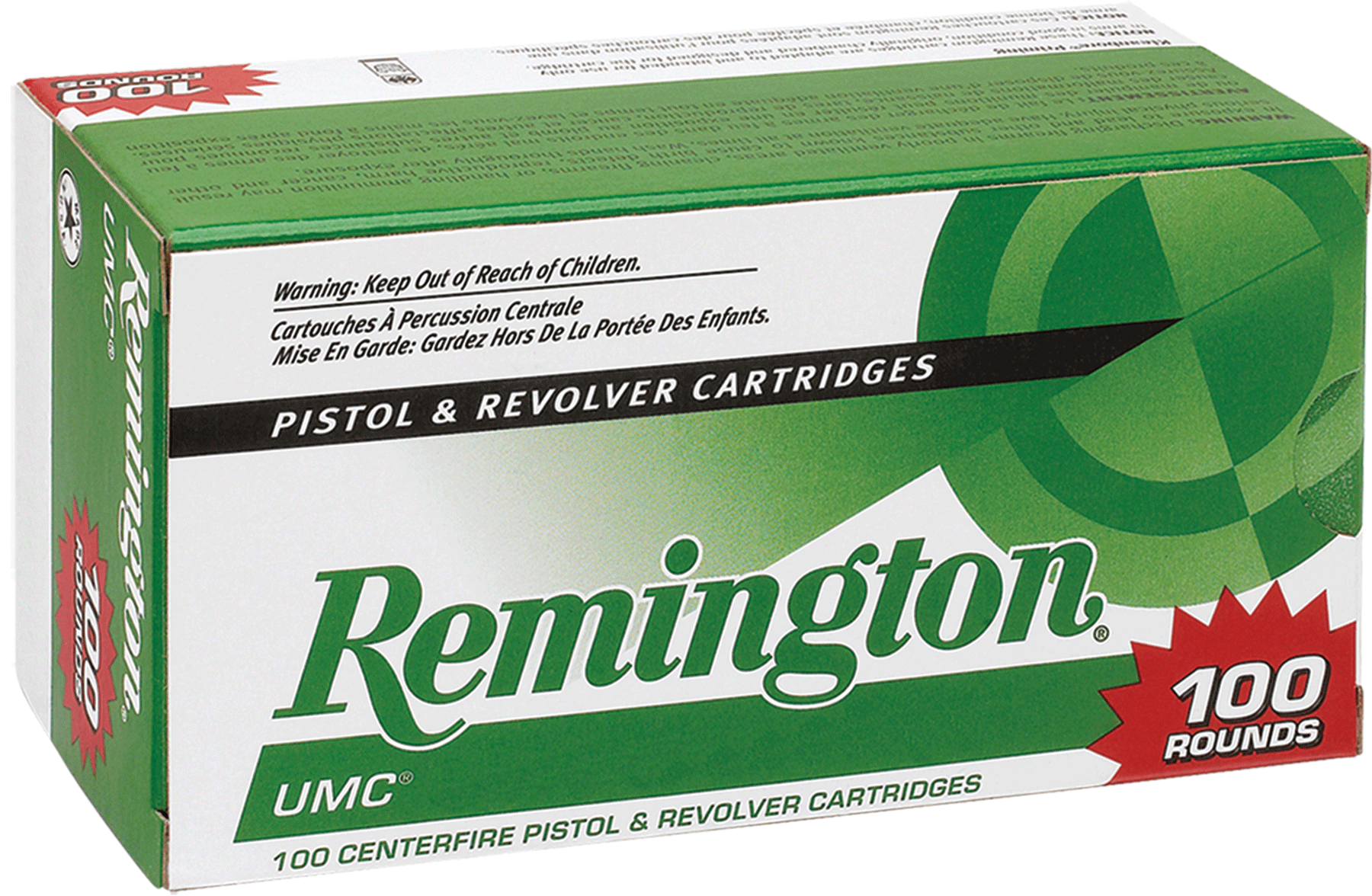 Remington UMC Ammunition 380 Auto (ACP) 88GR Jacketed Hollow Point Per 100