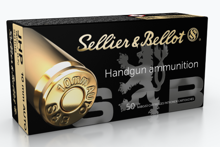 Sellier & Bellot Ammunition 10mm Auto 180GR Jacketed Hollow Point Per 50