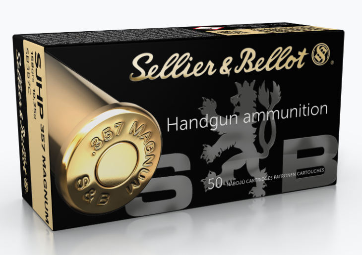 Sellier & Bellot Ammunition 357 Magnum 158GR Semi-Jacketed Hollow Point Per 50