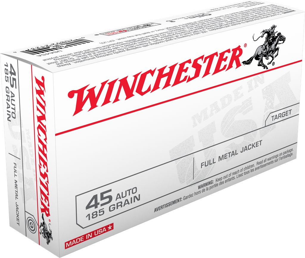Winchester USA Ammunition 45 Auto (ACP) 185GR Full Metal Jacket Per 50