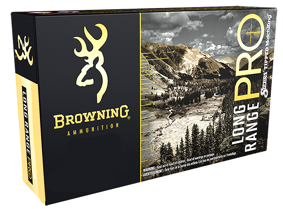 Browning Long Range Pro Ammunition 300 Winchester Short Magnum (WSM) 195GR Sierra Tipped MatchKing Polymer Tip Boat Tail Per 20