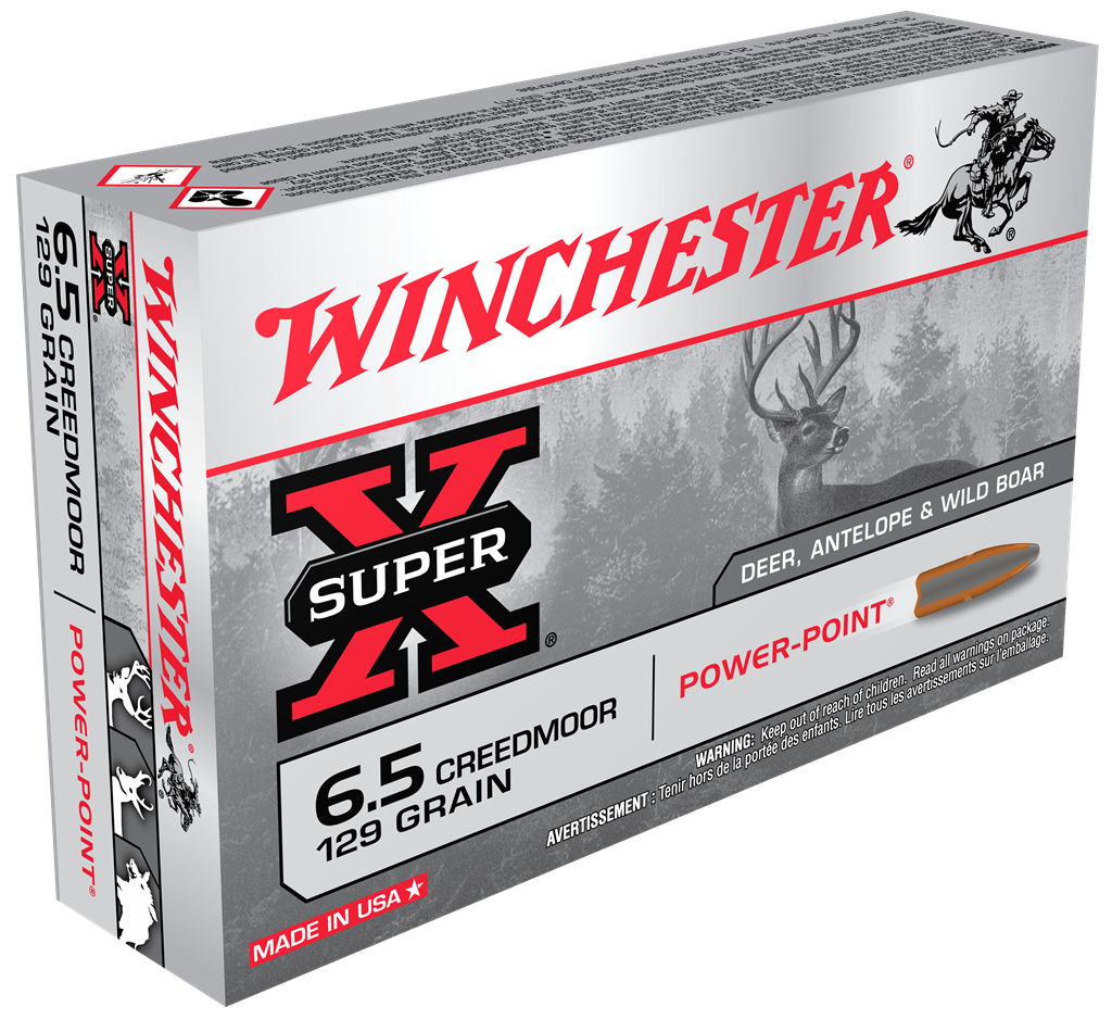 Winchester Super X Ammunition 6.5 Creedmoor 129GR Power Point Jacketed Soft Point Per 20