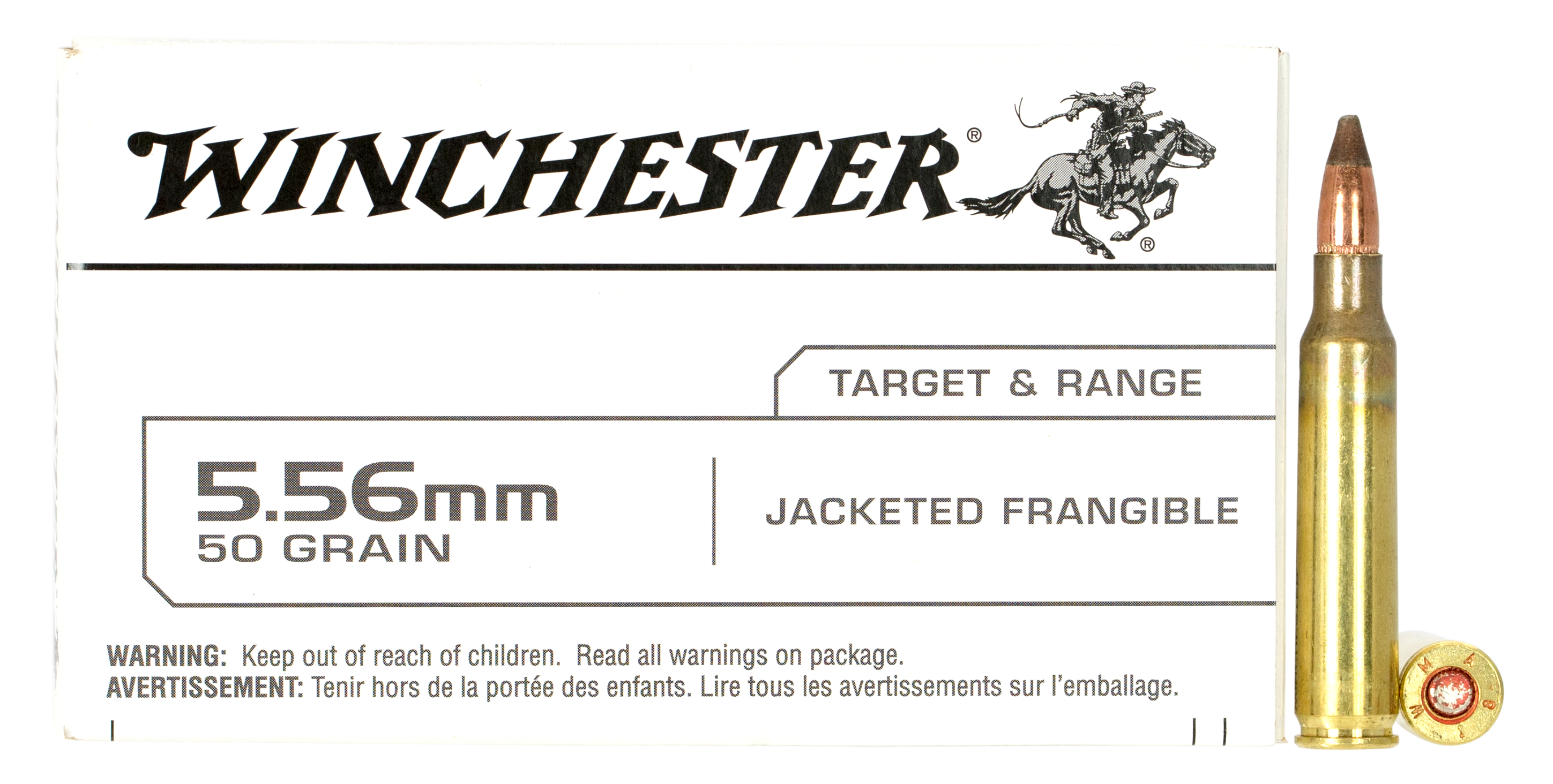 Winchester USA Ammunition 5.56x45mm NATO 45GR Frangible Per 20