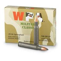 Wolf Military Classic Ammunition 30-06 Springfield 140GR Soft Point Per 500