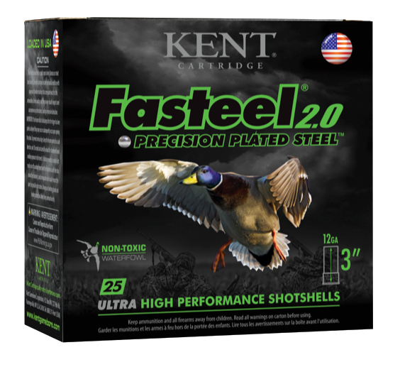 Kent Cartridge Fasteel 2.0 Waterfowl Ammunition 12 Gauge 2-3/4