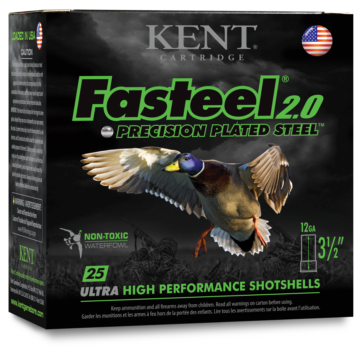 Kent Cartridge Fasteel 2.0 Waterfowl Ammunition 12 Gauge 3-1/2