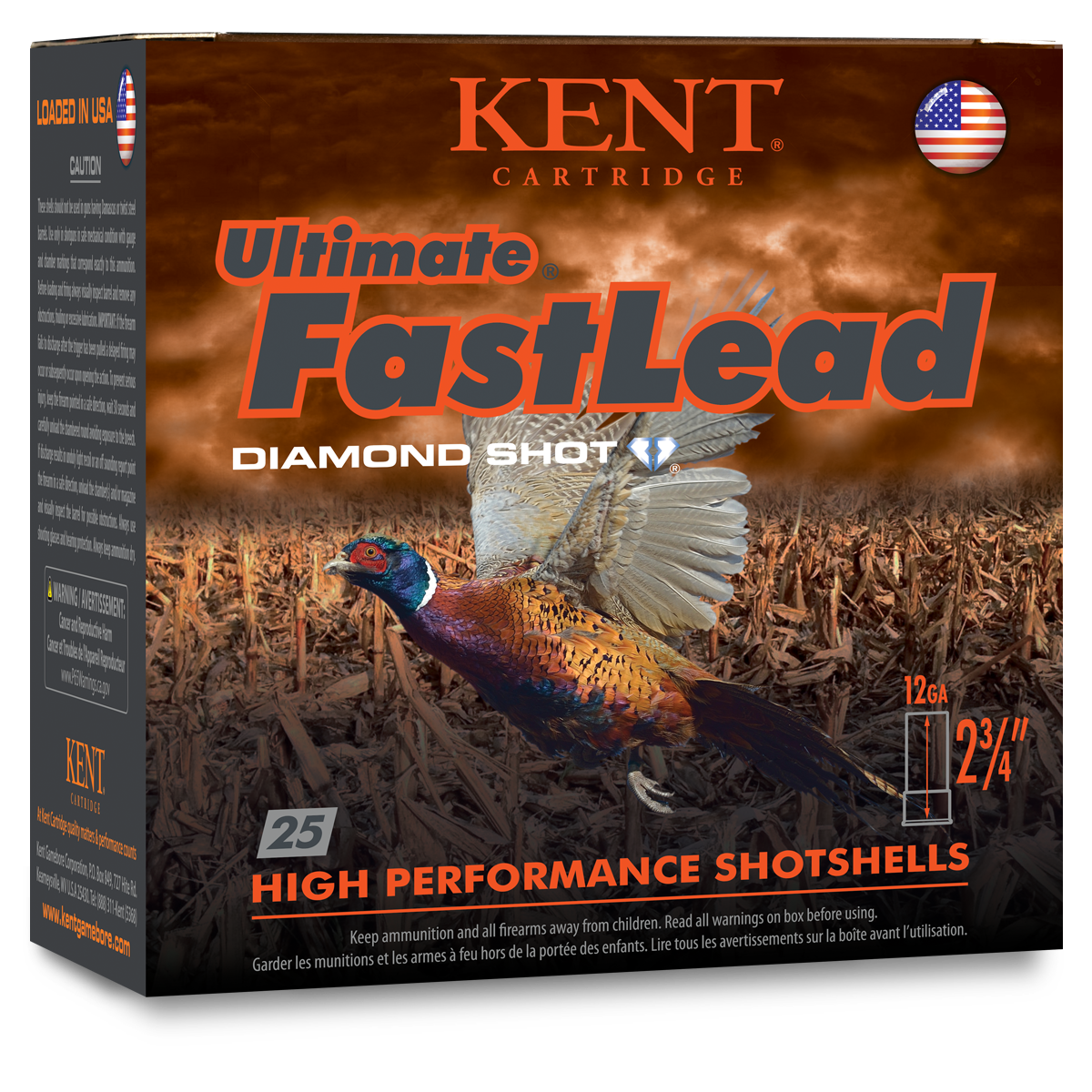 Kent Cartridge Upland Fasteel Game Load 12 Gauge 2-3/4