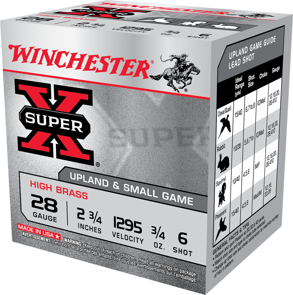 Winchester Super-X High Brass Game Load 28 Gauge 2-3/4