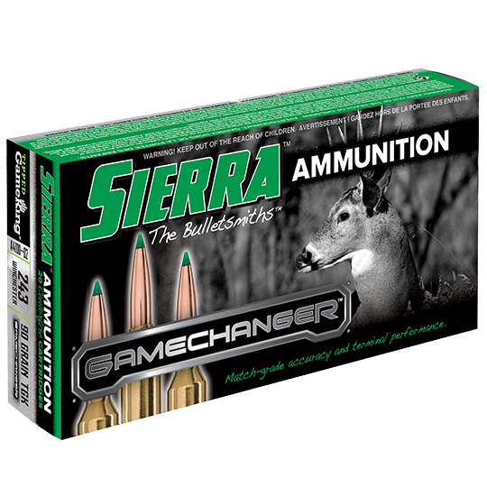 Sierra GameChanger Ammunition 243 Winchester 90GR Tipped GameKing Polymer Tip Per 20
