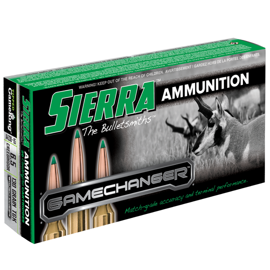 Sierra GameChanger Ammunition 6.5 Creedmoor 130GR Tipped GameKing Polymer Tip Per 20