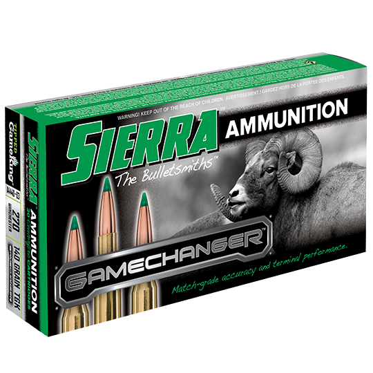 Sierra GameChanger Ammunition 270 Winchester 140GR Tipped GameKing Polymer Tip Per 20
