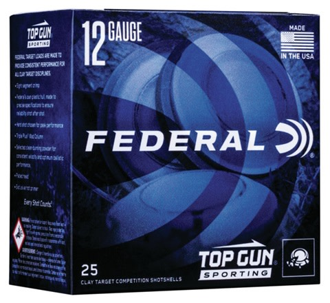 Federal Top Gun Sporting Target Load Ammunition 12 Gauge 2-3/4