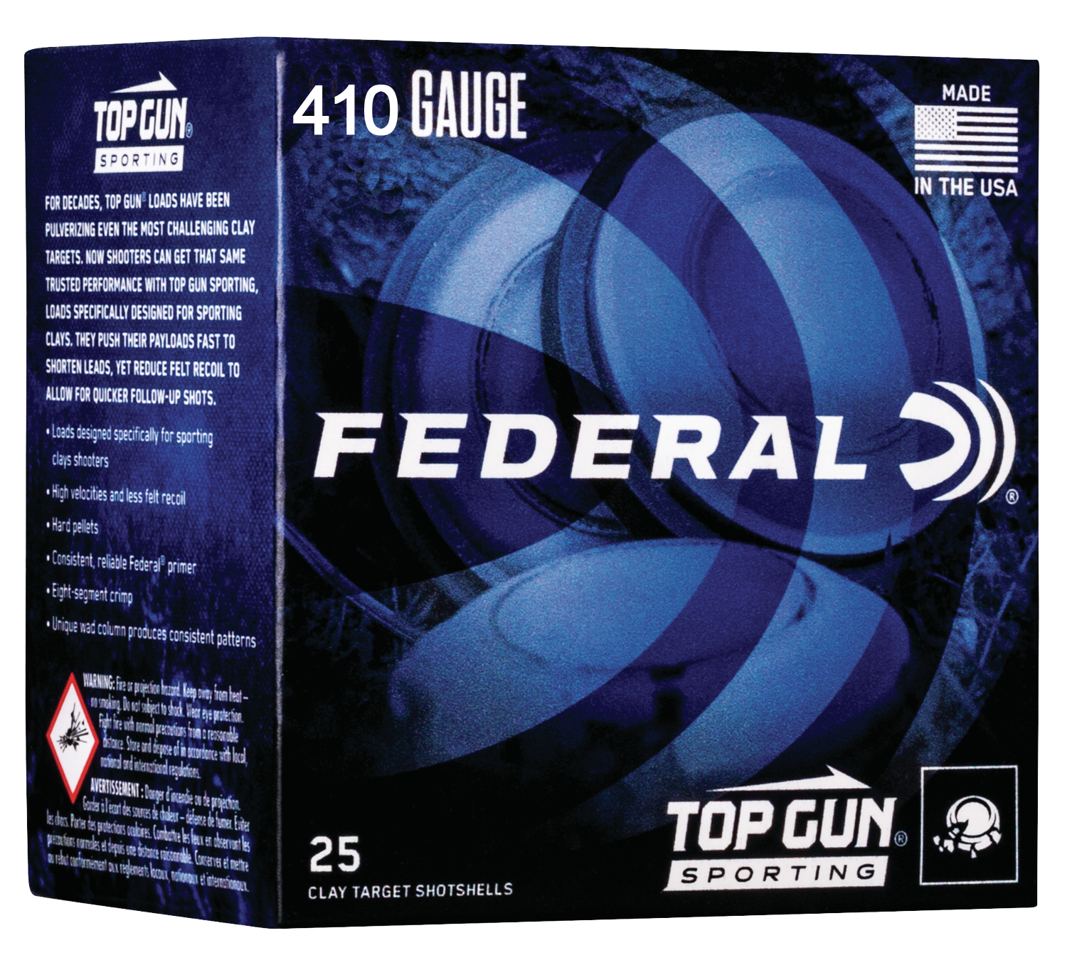 Federal Top Gun Sporting Target Load Ammunition 410 Bore 2-3/4