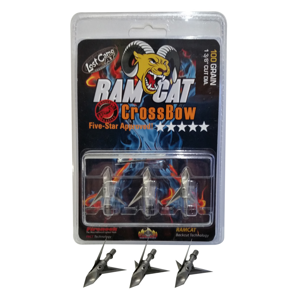 Ramcat Crossbow Broadhead - 100 gr. 3 Pack