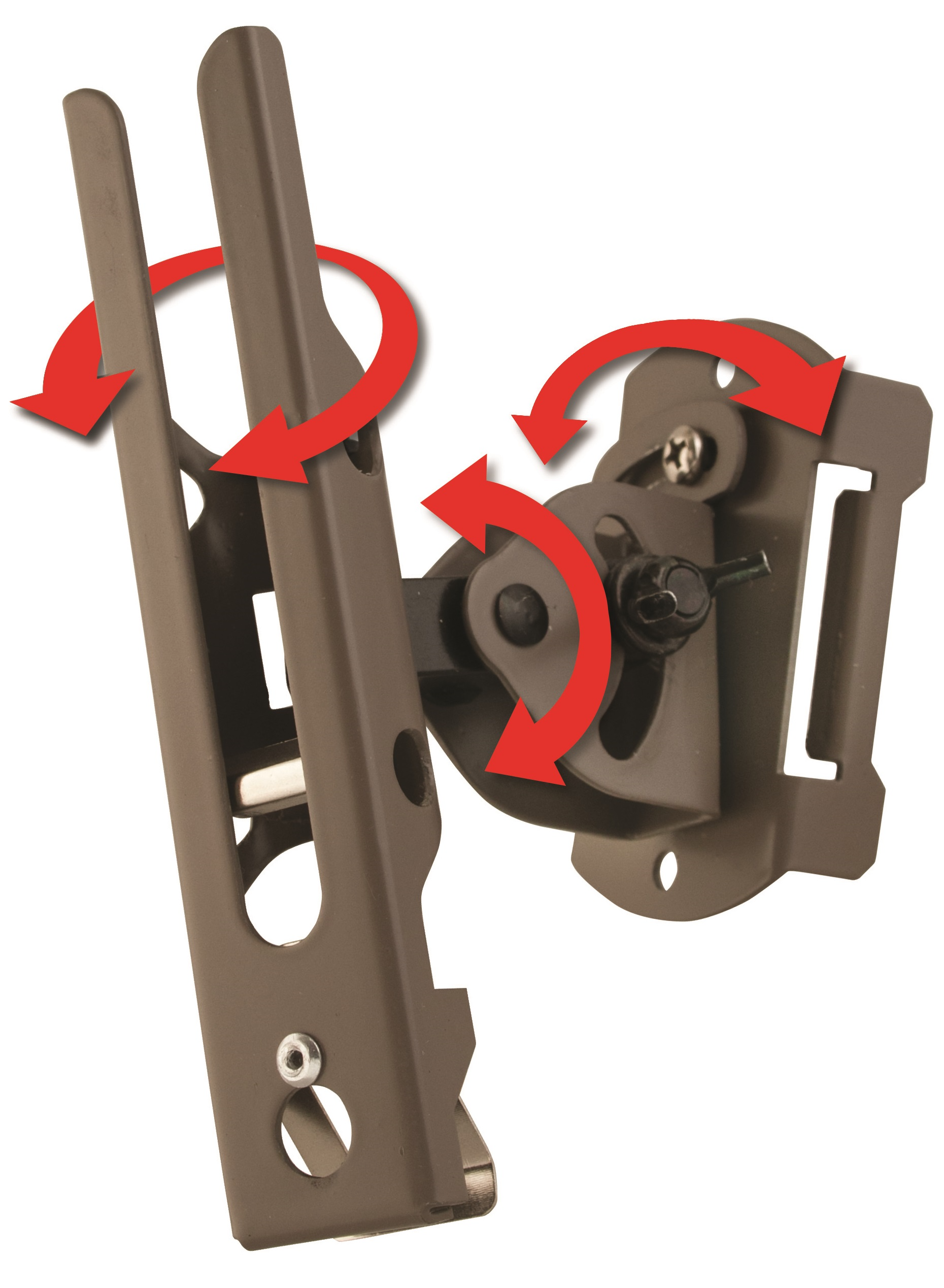 Cuddeback Genius Pan Tilt Lock Camera Mounts - Brown