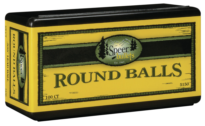 Speer Lead Round Balls - .54 Caliber (.535 Diameter) 230GR Round Ball Per 100