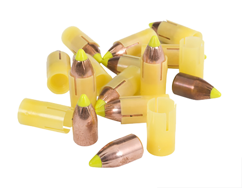 Traditions Smackdown SST Saboted Bullets - .50 Caliber 250GR Polymer Tip Flat Base Per 15