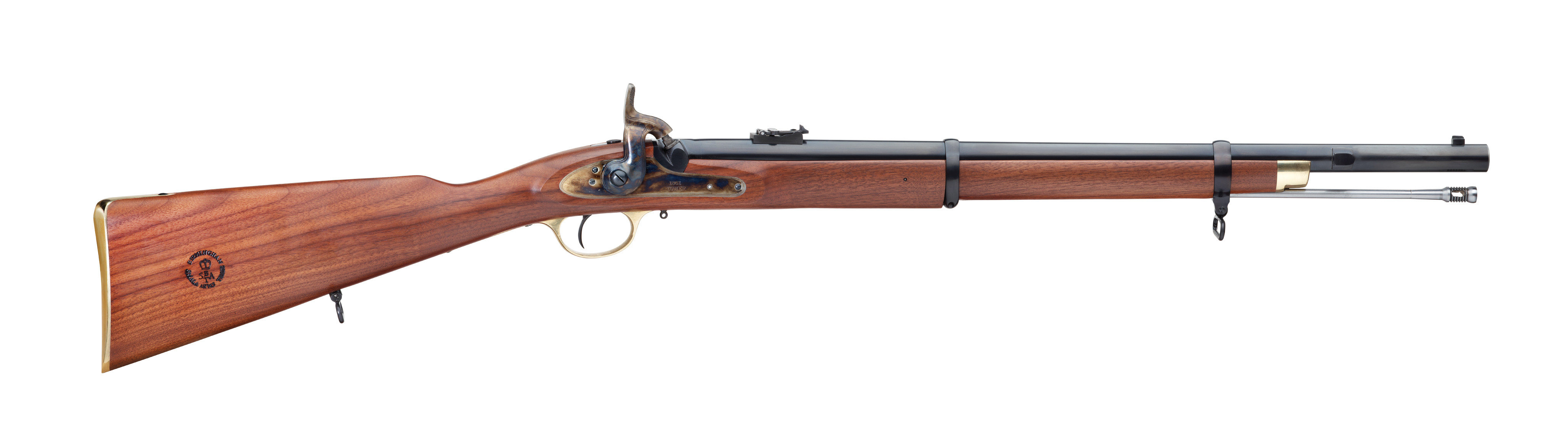Pedersoli 1861 Enfield Musketoon Short Percussion Rifle - .58 Caliber - 24