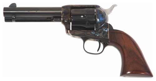 Cimarron Evil Roy Competition Revolver - .357 Magnum/.38 Special 6 rd - Walnut/Case Hardened/Blued