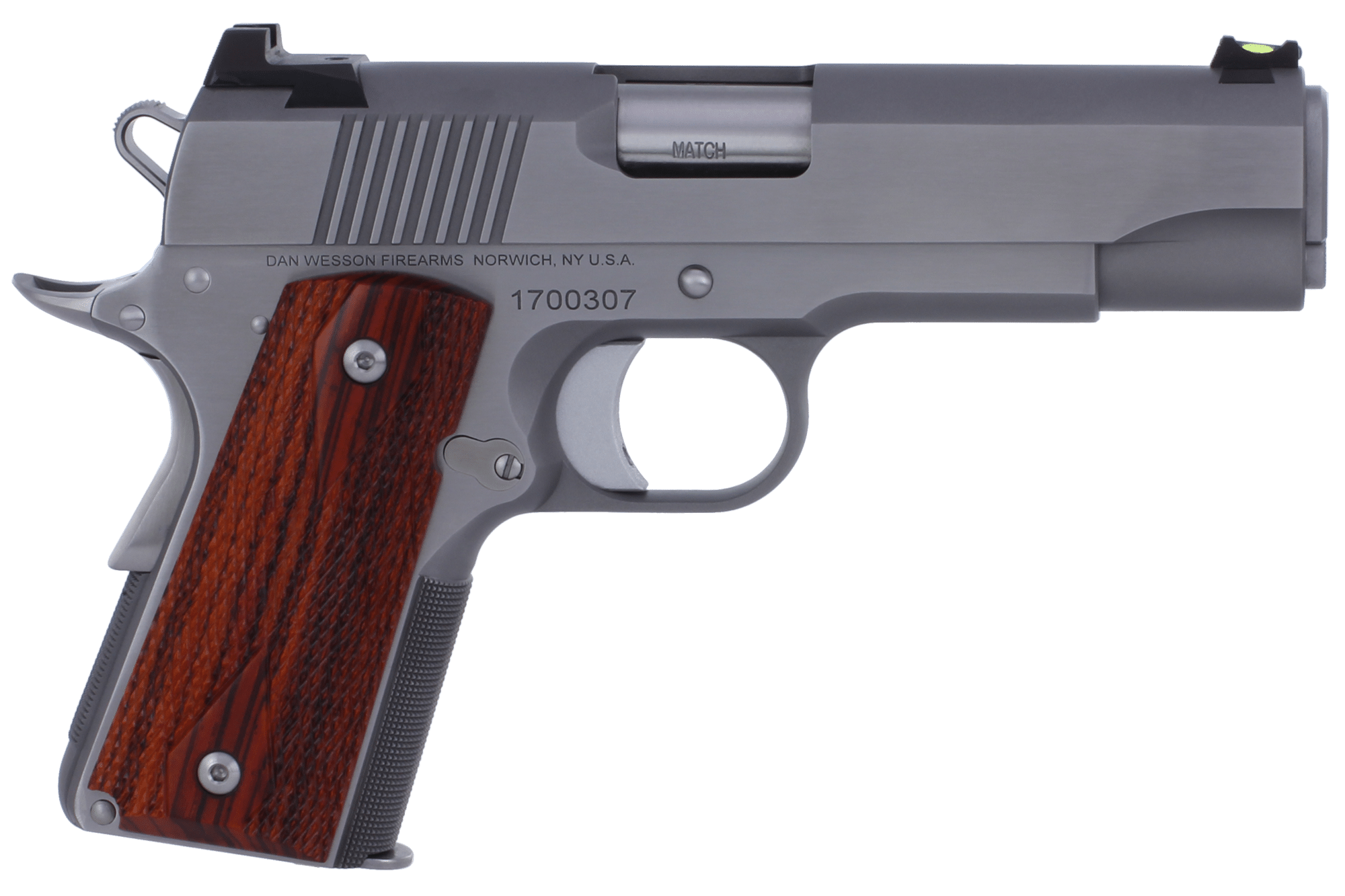 Dan Wesson 1911 Pointman Pistol - .45 ACP 7+1 - Wood/Stainless