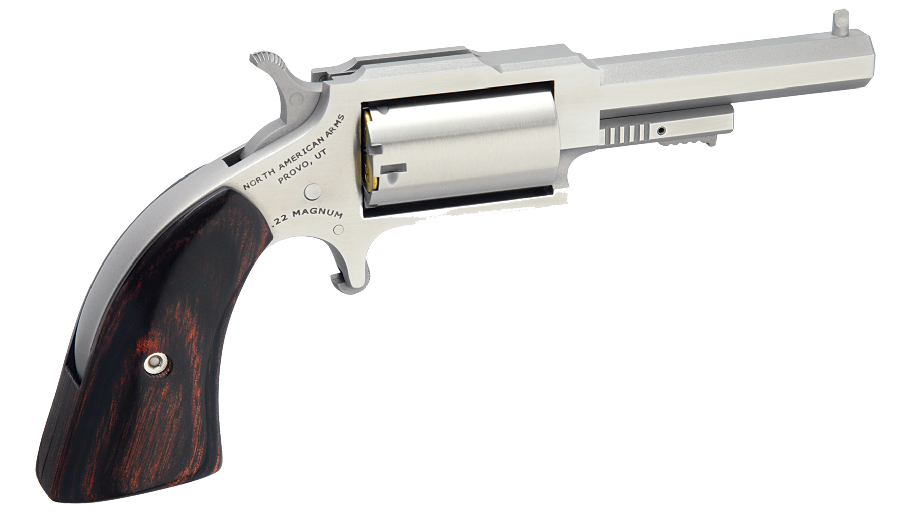 NAA 1860 The Sherriff Revolver - .22 Magnum 5rd - Wood/Stainles