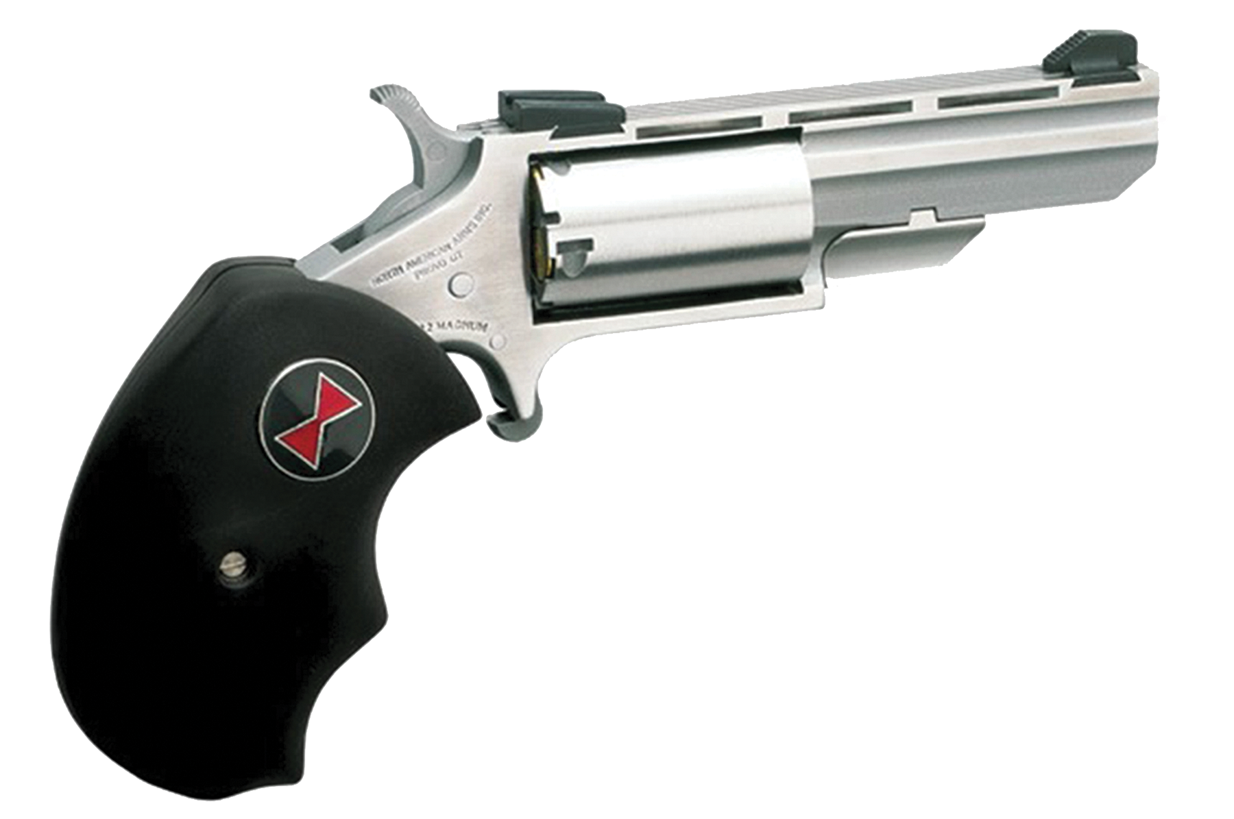NAA Black Widow Revolver - .22 Magnum 5rd - Black/Stainless