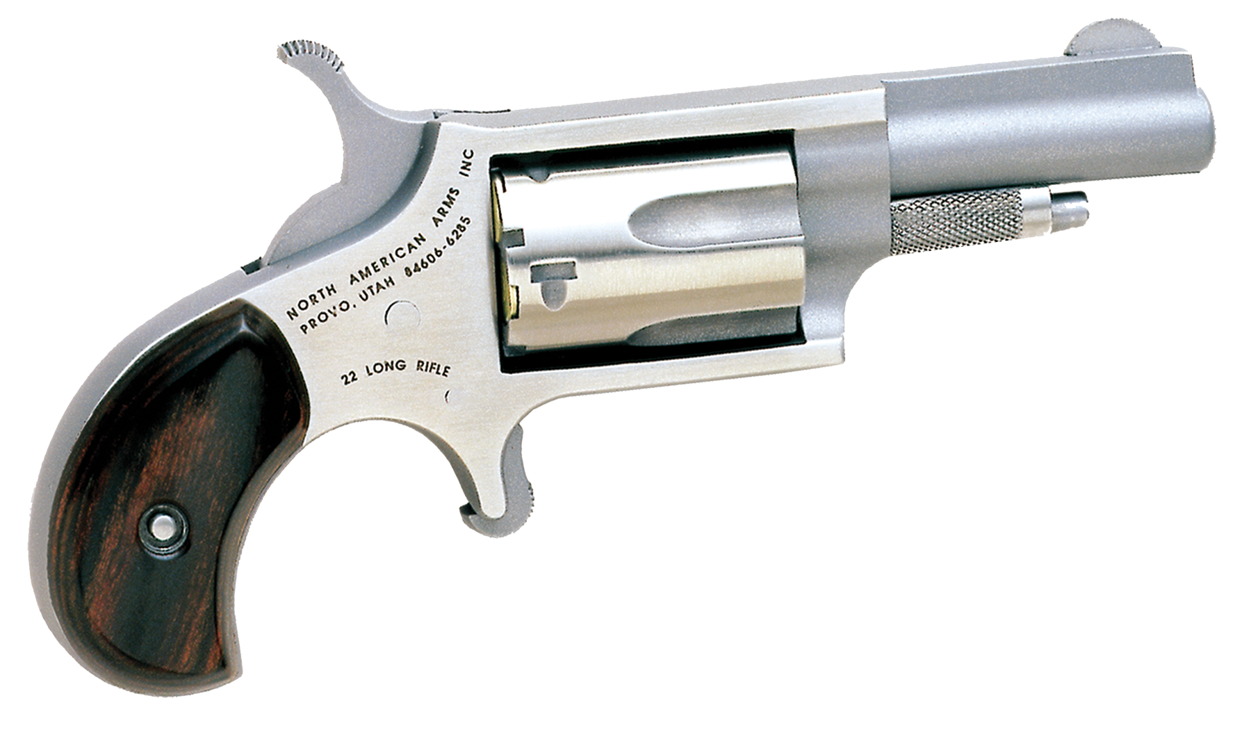 NAA Mini Revolver - .22 LR 5rd - Wood/Stainless