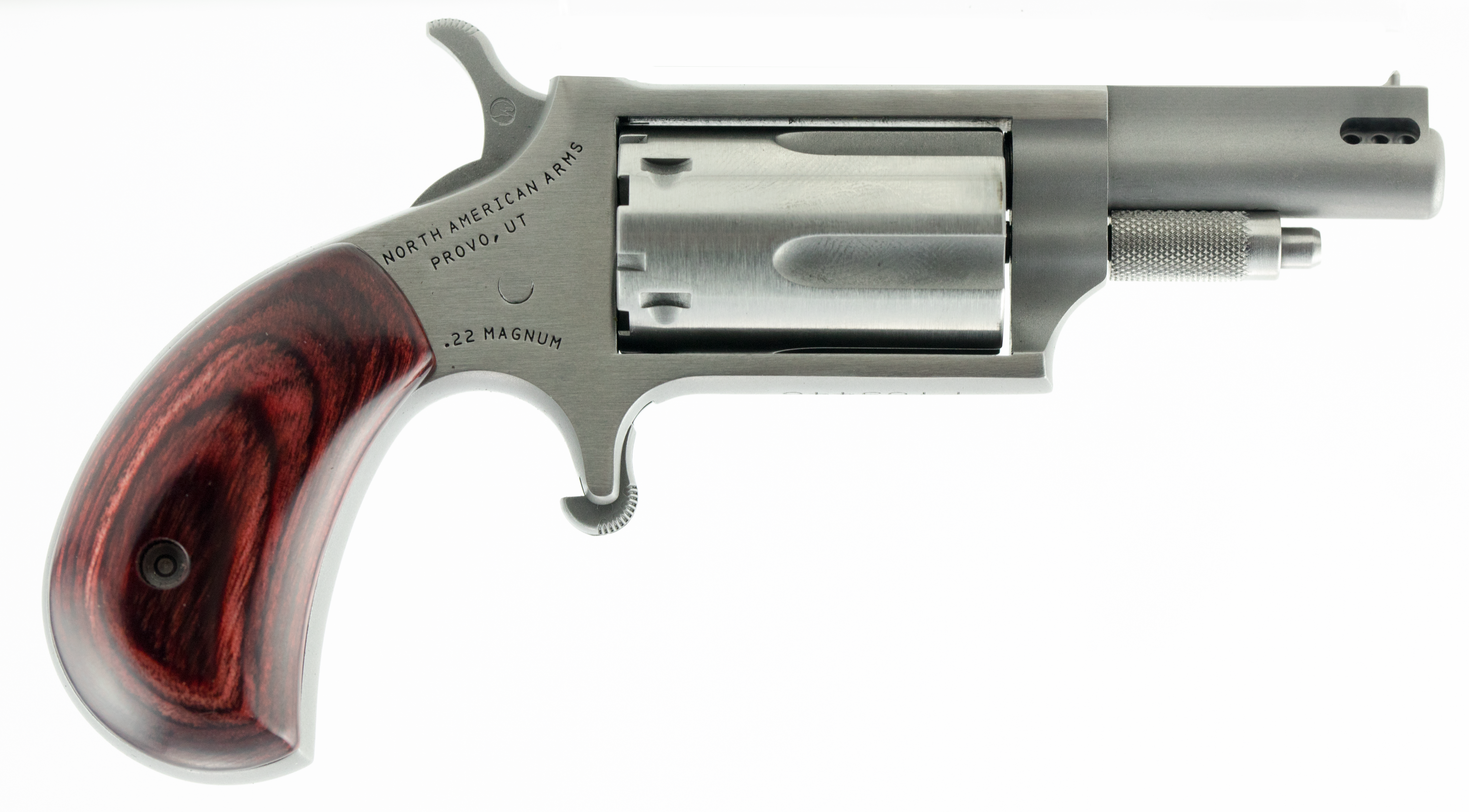 NAA Mini Revolver - .22 LR/.22 Magnum 5rd - Ported - Wood/Stainless