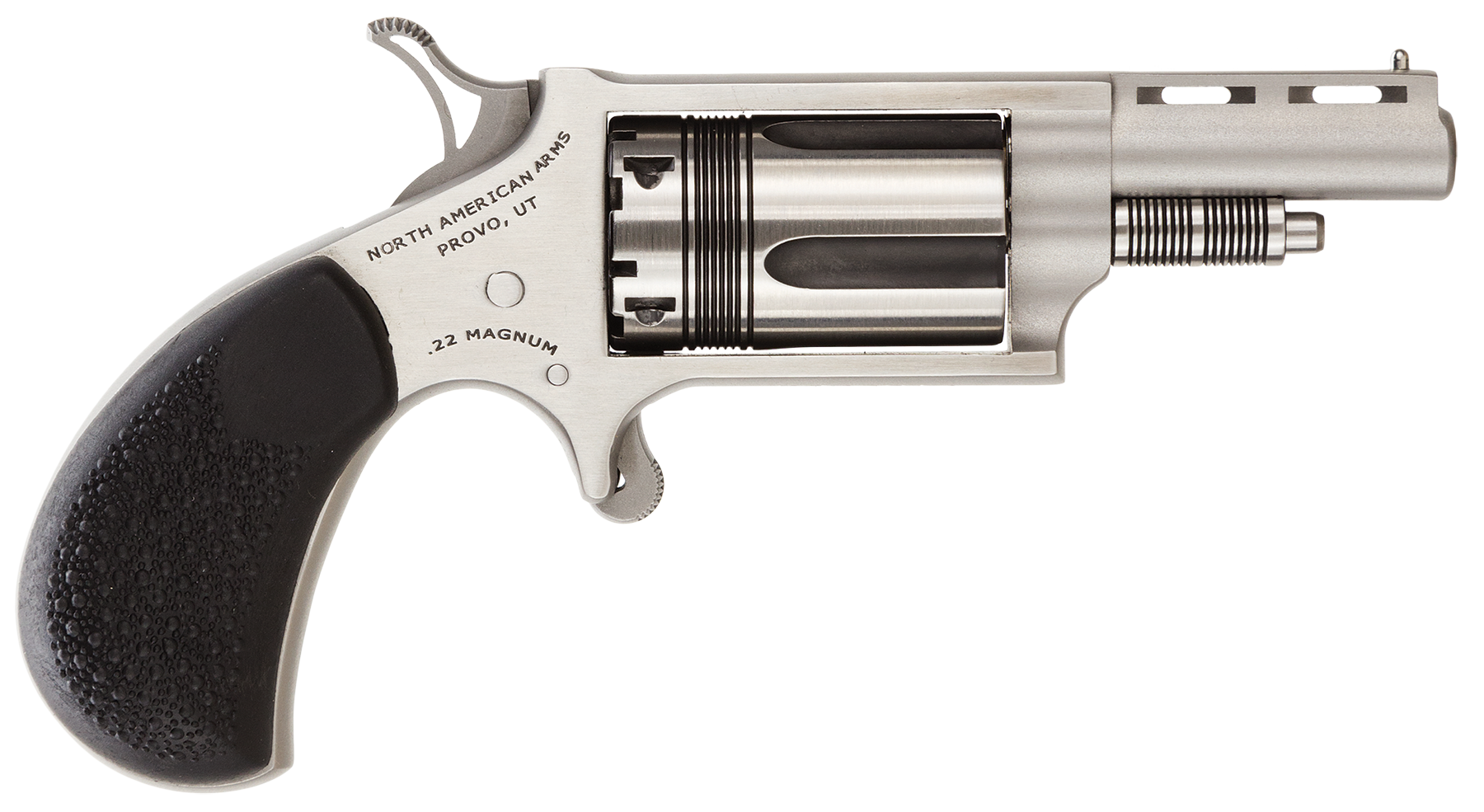 NAA The Wasp Revolver - .22 LR/.22 Magnum 5rd - Black/Stainless