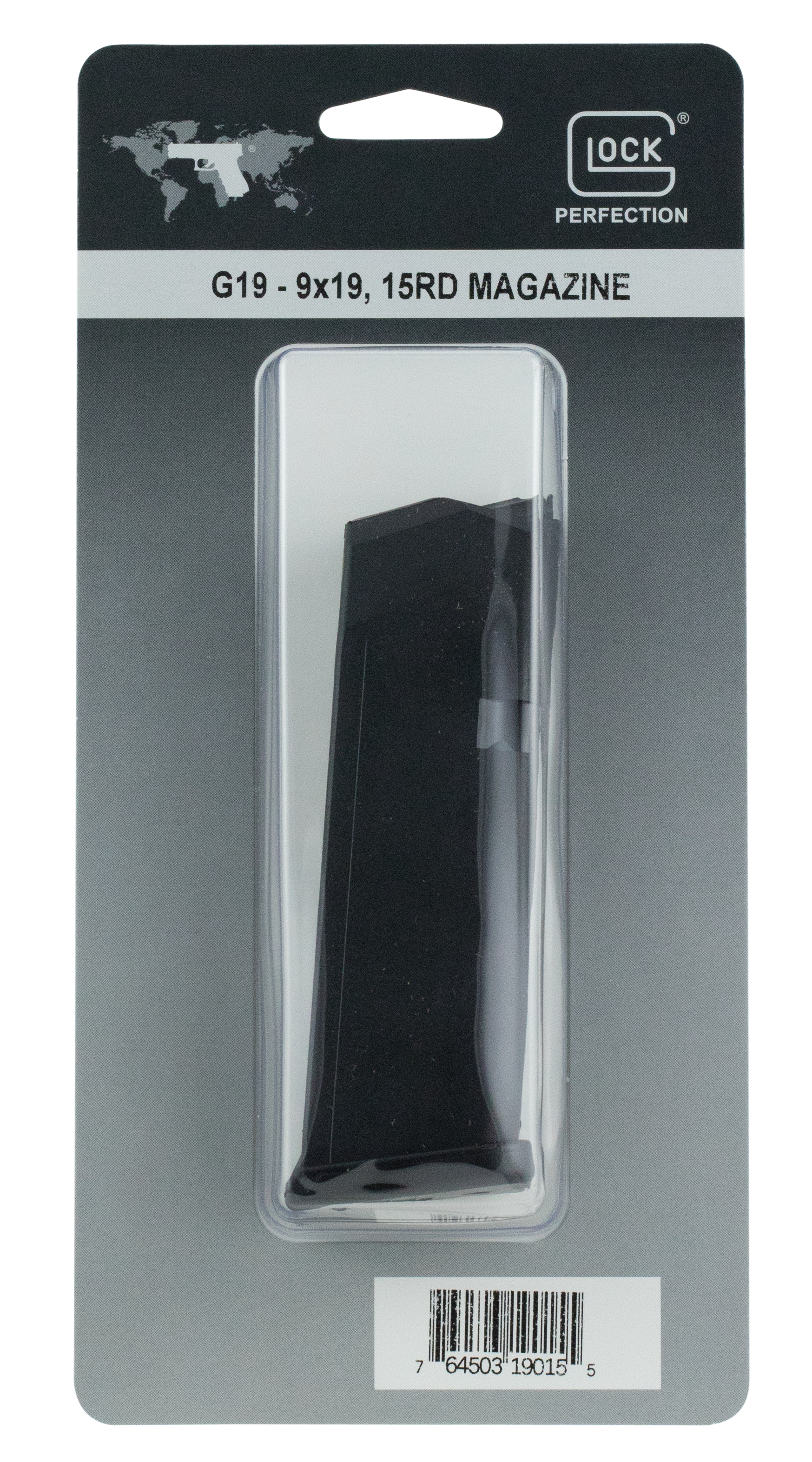 GLOCK® G19 Magazine - 9mm 15rd - Black