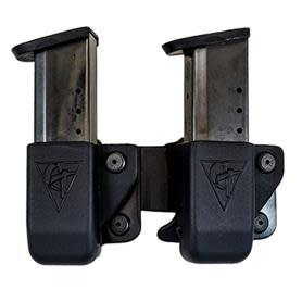 Comp-Tac Double Twin Mag Belt Pouch - 1911 Single Stack/Kahr/Springfield XD-S/SIG P220