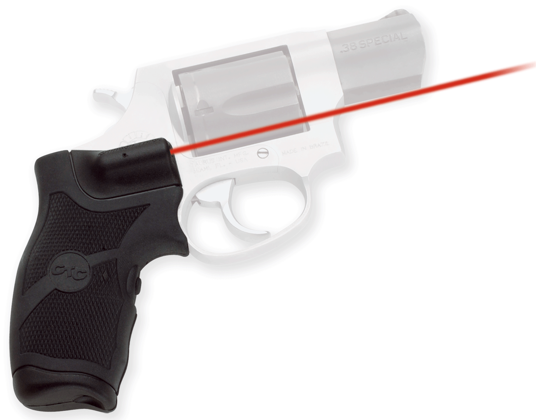 Crimson Trace® Lasergrips® - Taurus® Revolvers - Rubber Overmold Grip - Red Laser