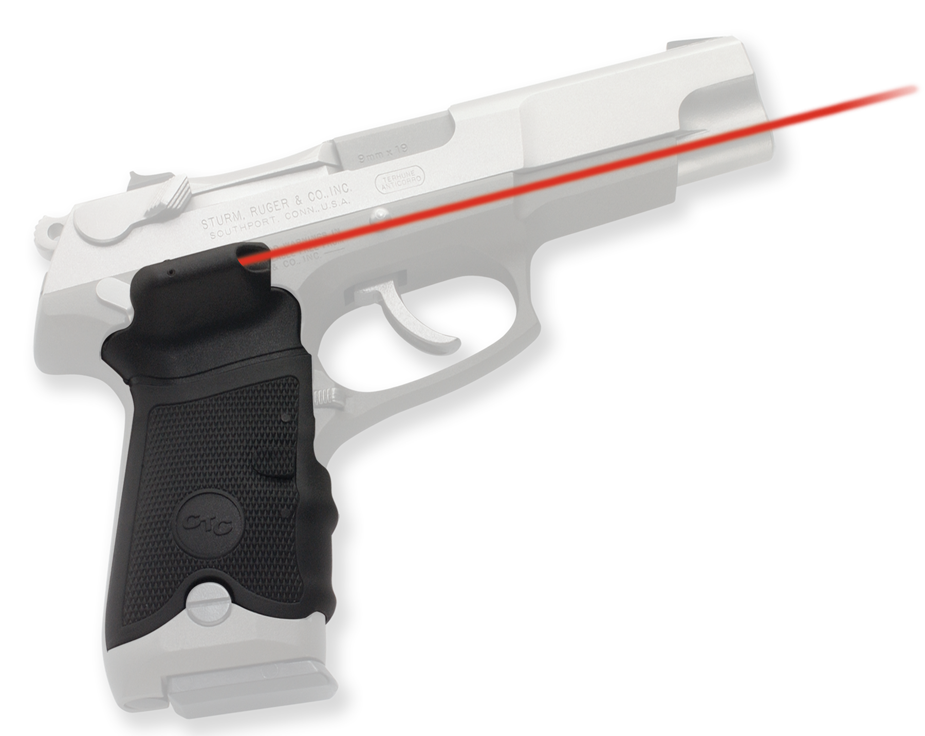 Crimson Trace® Lasergrips® - Ruger® P-Series - Red Laser