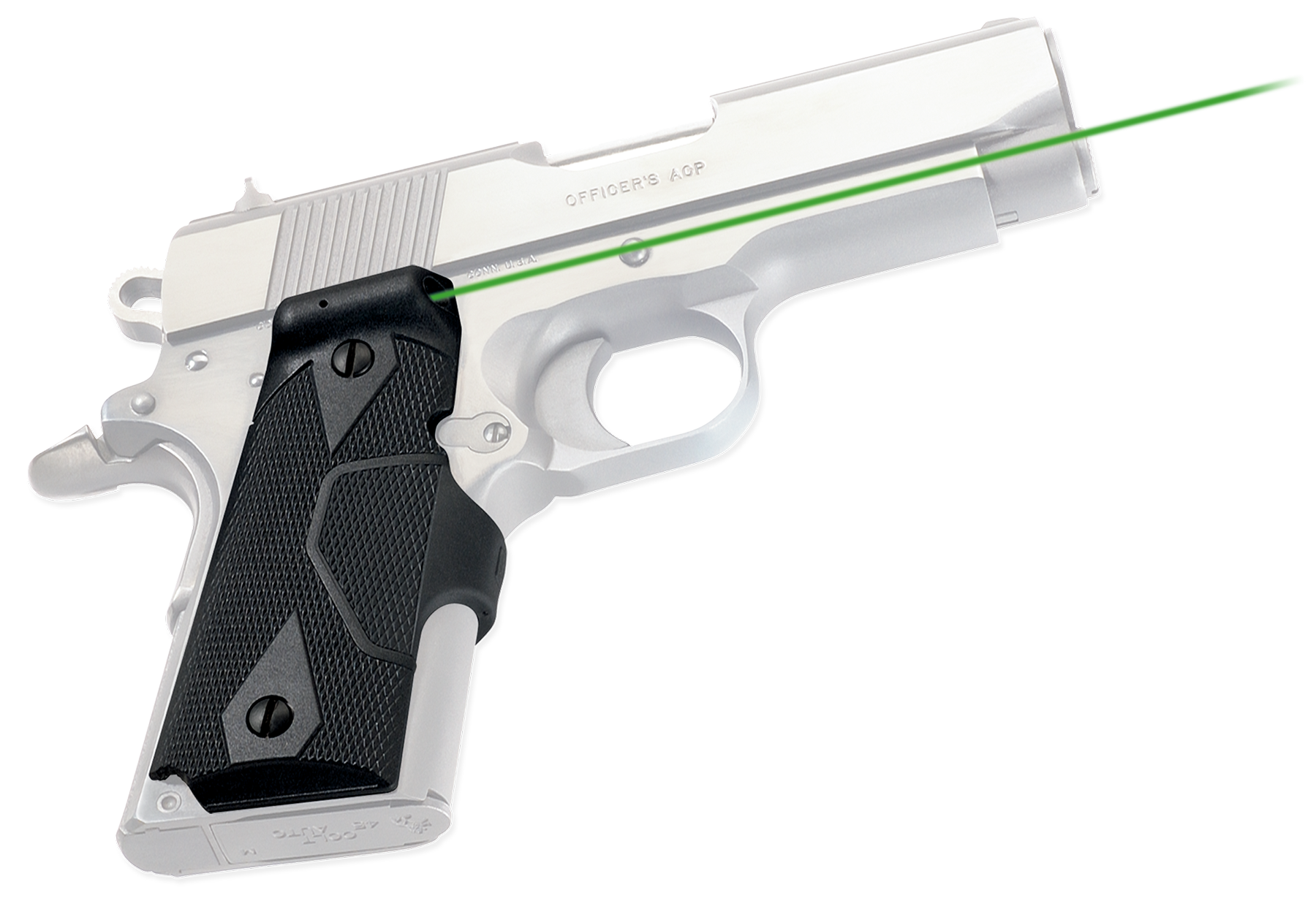 Crimson Trace® Lasergrips® - 1911 Compact - Green Laser