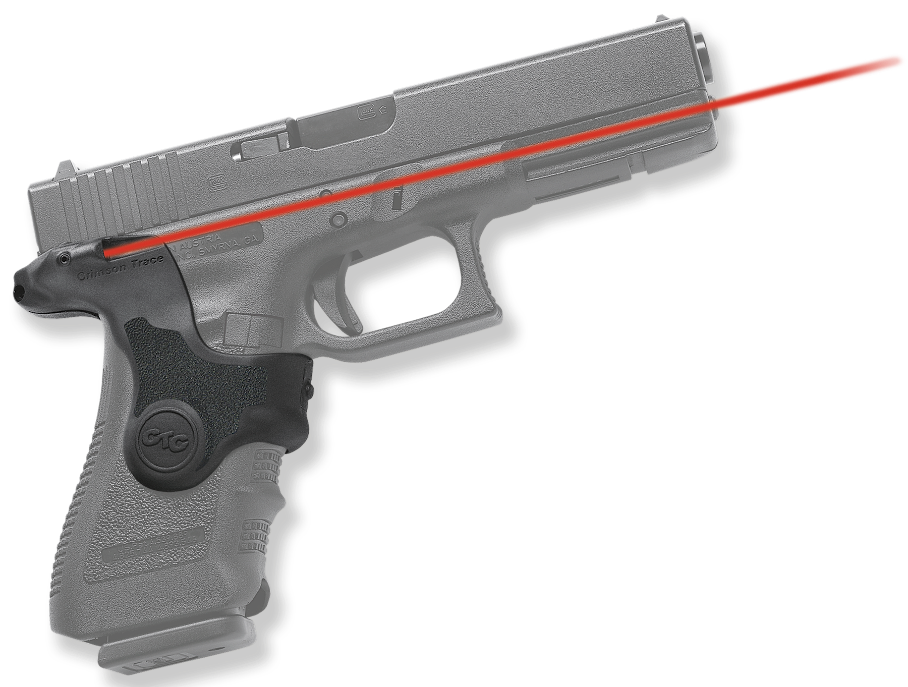Crimson Trace® Lasergrips® - GLOCK® Gen 3 Compact/Full Size - Red Laser
