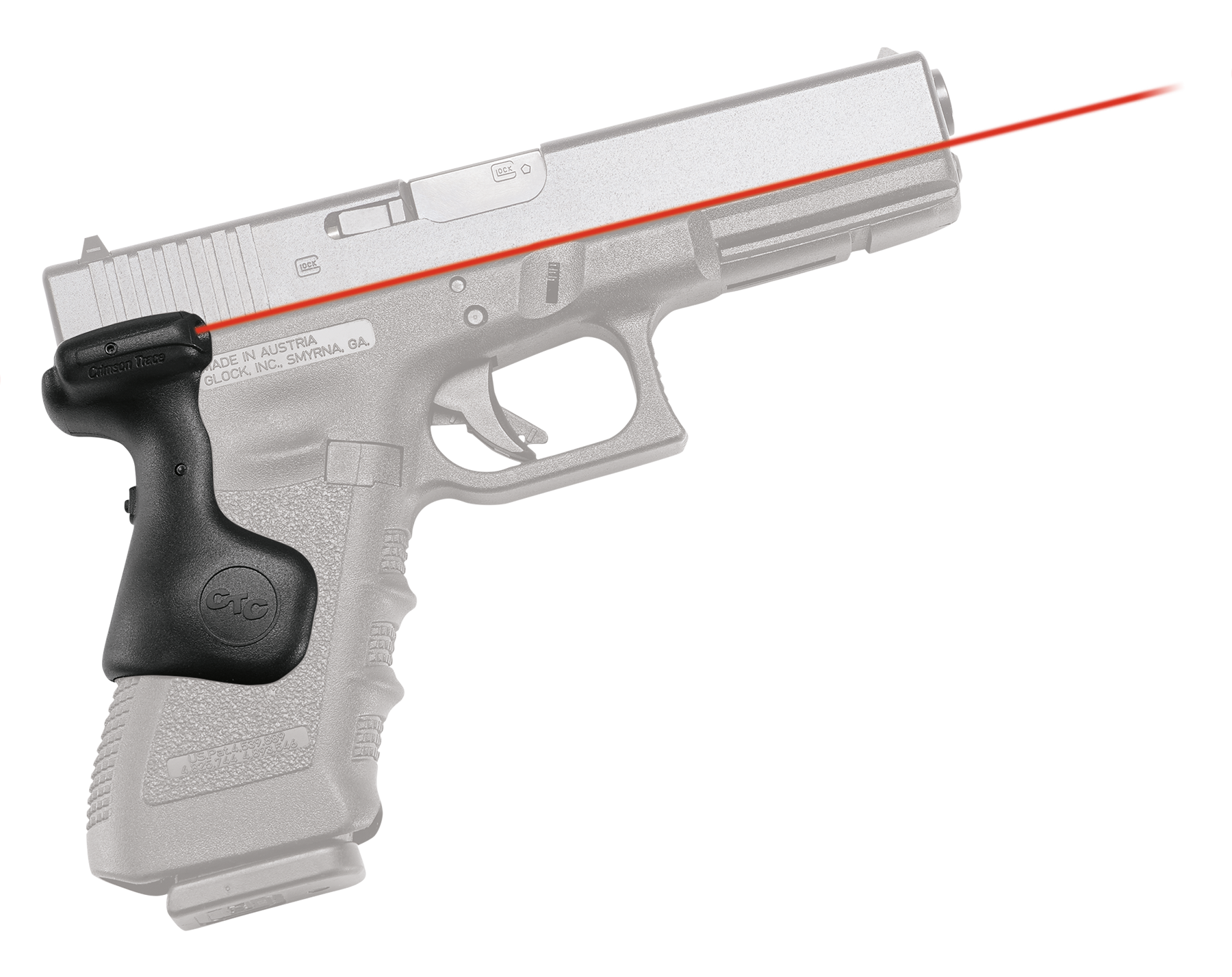 Crimson Trace® Lasergrips® - GLOCK® Gen 3/4/5 Full Size - Rear Activation - Red Laser