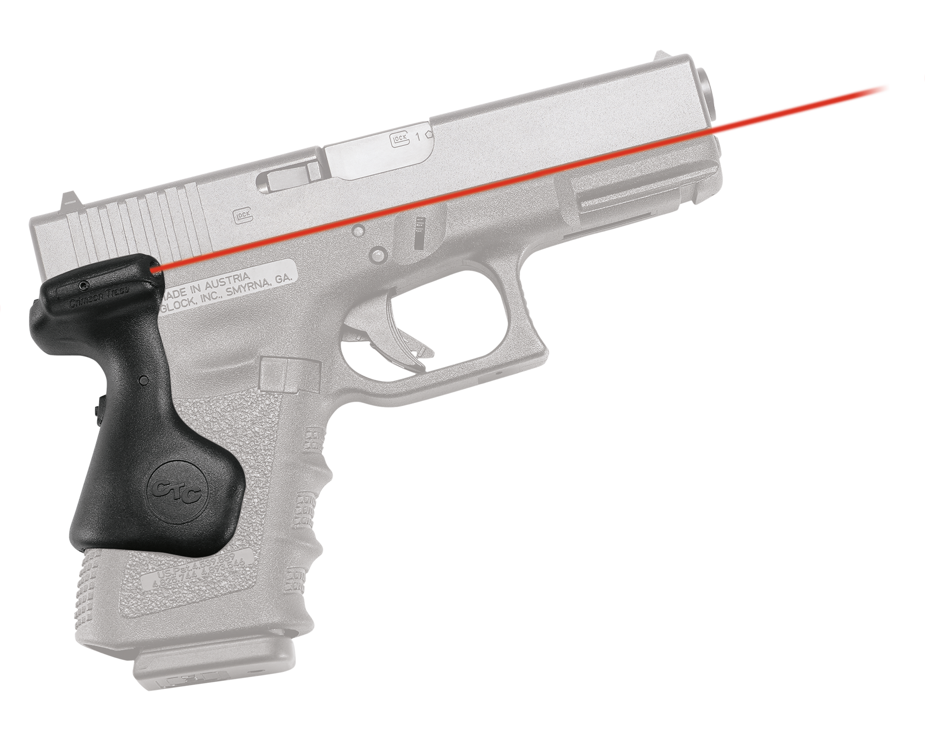 Crimson Trace® Lasergrips® - GLOCK® Gen 3/4/5 Compact - Rear Activation - Red Laser