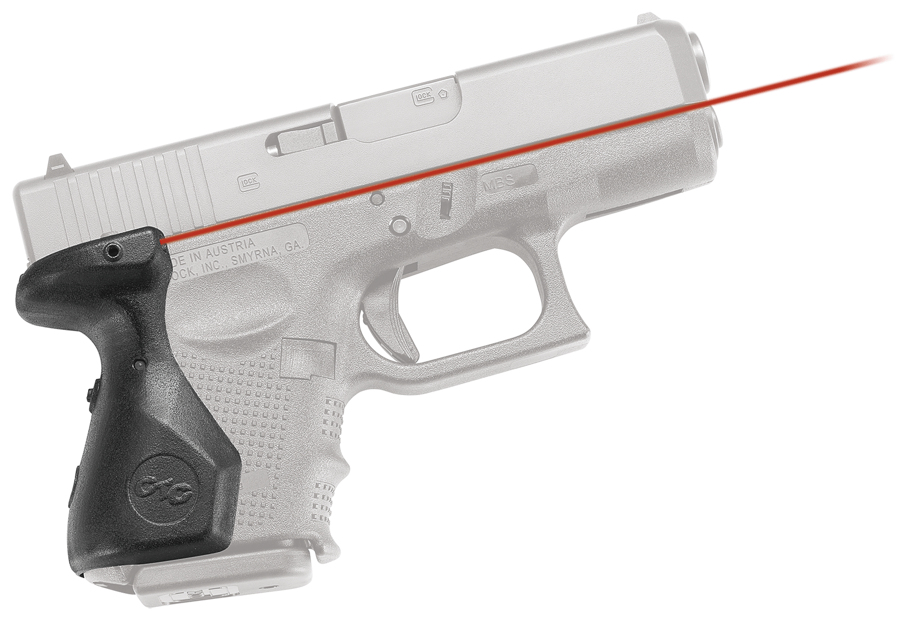 Crimson Trace® Lasergrips® - GLOCK® Gen 4 G26/27/33 - Rear Activation - Red Laser